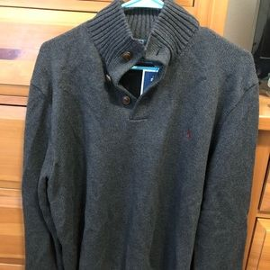 Gray Polo pullover, NWT